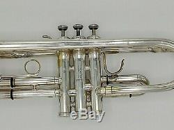 Vintage Eastlake Ohio King Silver Flair Professional Trumpet with Original Case
