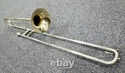 Vintage H. N. White King Silver Trombone with case. A steal