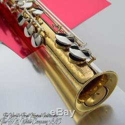 Vintage King H. N. White Artist Soprano Saxophone New Gold Plate