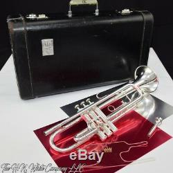 Vintage King HN White Silver Flair Trumpet Professional made in Cleveland