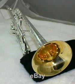 Vintage Mount Vernon Bach Stradivarius Trumpet 1961 Silver Plated Gold Wash Bell