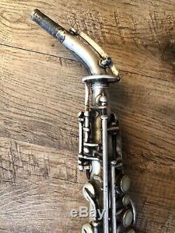 Vintage Rare 1920s Elkhart Curved Soprano Sax
