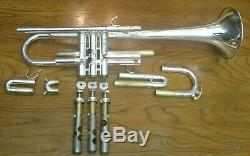 Vintage Schilke Extra Large Bore CX6 Silver Plated C Trumpet w Padded Gig Bag
