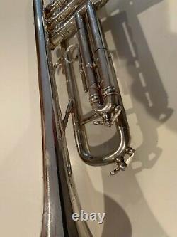 Vintage Silver Selmer Paris K Modified 24B Trumpet With Original Case