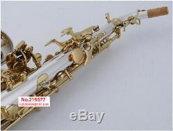 YANAGISAWA SC-9937 Soprano Saxophone Silvering Gold key Professional Soprano Sax