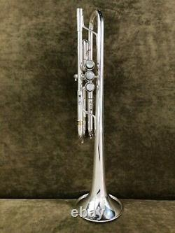 Yamaha YTR-6445 HG Mark II C trumpet in silver plate. Pristine condition