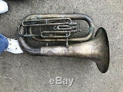 York Silver eB Tuba Horn For Restoration Three Valve