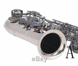 100% Nouveau Professionnel Eb Argent Nickel Noir Mat Clé De Fa # Saxophone Alto