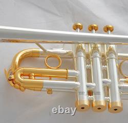 15% Vente Professional Silver/gold Plaqué Eb/d Trumpet Horn Monel Valve With Case