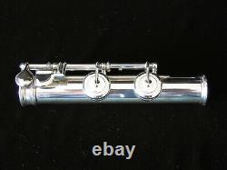 1882 Louis Lot Flute Original Solid Silver Lip Plate Restored Never Retuned