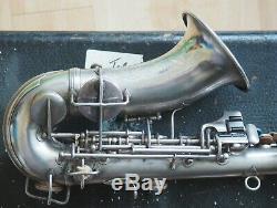 1915 C. G. Conn Courbe Soprano Sax, Argent, Faible Pente