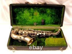1921 C. G. Conn Nouveau Wonder Professionnel Bb Courbe Argent Saxophone Soprano Rare