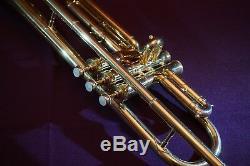 1921 Cg Conn 4b Symphony Modèle Professionnel Trompette En Si Bémol, Withcase, Embouchure