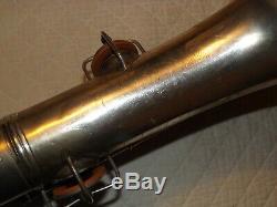 1921 Conn New Wonder I Tenor Sax / Saxophone, Argent Originale, Pads Récentes Complete
