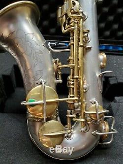 1922 C. G. Conn Nouveau Wonder I Professionnel Bb Courbe Argent & Or Soprano Sax