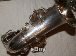 1922 Conn New Wonder Pré-chu Courbé Soprano Sax / Saxophone, Argent, Pièces Grand