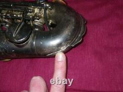 1922 Le Buescher True Tone Curved Bb Soprano Saxophone Joue Sur De Vieux Pads