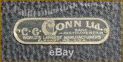 1923 Conn C Melody Tenor Sax, Placard Reine A Besoin D'un Service Et Porte-parole
