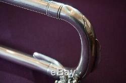 1924 Buescher Du Grand Vrai Tone Professional Tenor Trombone Fait À Elkhart Ind