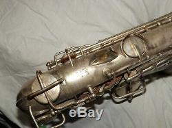 1924 Conn New Wonder Pre-chu Alto Sax / Saxophone, Worn Argent, Pièces Grand