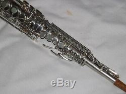 1925 Conn Late Pré-chu Argent Saxophone Soprano, Pads, Récemment Incroyable Condition