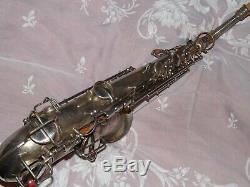 1925 Conn New Wonder Pre-chu Alto Sax / Saxophone, Plaqué Argent, Plays Grand