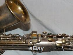 1925 Conn New Wonder Pre-chu Alto Sax / Saxophone, Worn Argent, Pièces Grand
