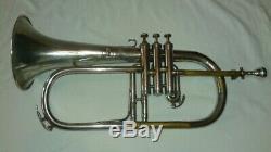 1925 Couesnon Monopole Bugle Bugle Avec # 8 Embouchure Et Étui Old Vintage