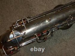 1927 Buescher True Tone Alto Sax/saxophone, Argent, Belle Condition Originale