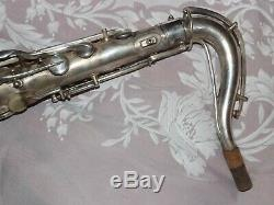 1927 Conn New Wonder Chu Tenor Sax / Saxophone, Argent, Rouleau, Pièces Grand