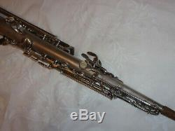 1928 Conn New Wonder Chu Bb Soprano Sax / Saxophone, Argent, Pièces Grand