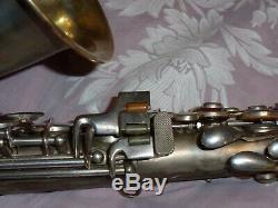 1928 Conn New Wonder II Chu Sax Alto / Saxophone, Argent, Pièces Grand