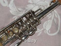 1928 Selmer Modele 26 Soprano Saxophone, Argenté, Grande Plays, Nice
