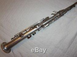 1929 York Bb Soprano Sax / Saxophone, Argent, Pièces Grand