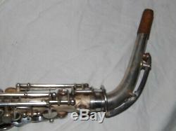 1932 Buescher New Aristocrat Saxophone Alto, Argent Original, Plays Great