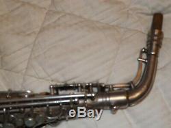 1932 Conn 6m Saxophone Alto De Transition # 251xxx, Argent, Lady, Tablettes Récentes