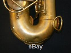 1948 Le Comité Martin III Alto Saxophone Plate Rare Finition D'argent