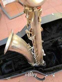 1953 Conn 12m Femme Nue Argent Plaqué Saxophone Baryton