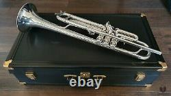 1957 E. Benge Burbank, ML Bore, Original Silver Plating! Trompette Gamonbrass