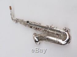 1962 Grand Selmer Mark VI Saxophone Alto. Argent D'origine. # 94163