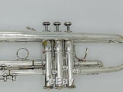 1983 Bach Stradivarius 37 Argent Plaqué Professionnelle Trompette Avec L'original Cas