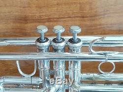 1983 Était Sympa De Jouer En Argent Plaqué Bach Stradivarius 37 Professional Trompette W Cas