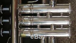 1985 Bach Stradivarius 43 180s43 ML Trompette Cor Professionnel Plaqué Argent