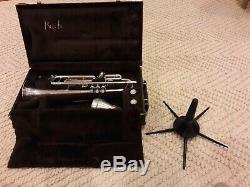 1990 Bach Stradivarius Modèle 37 ML Argent Plaqué Trompette Avec Étui Rigide