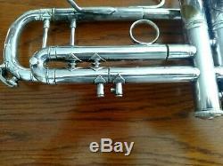 1995 Argent Plaqué Bach Stradivarius Professional 37 ML Trompette Avec Étui