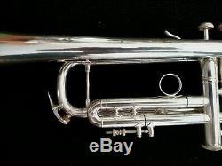 1996 Trompette Professionnelle Bach Stradivarius 43 Bach Plaquée Avec Etui Original