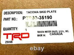 2016-2019 Toyota Tacoma Trd Pro Off Road Front Aluminium Skid Plate Véritable Oem