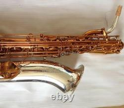 2019 Saxophone Baryton Professionnel Café Eb Sax Nickel Silver Bell Avec Étui