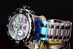 24837 Montre Invicta Pro Diver Scuba Blue Vert Abalone Avec Cadran Chrono Ss