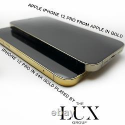24k Iphone 12 Pro 128go Gold Plaqué Unlocked Brand New Custom Gsm Cdma